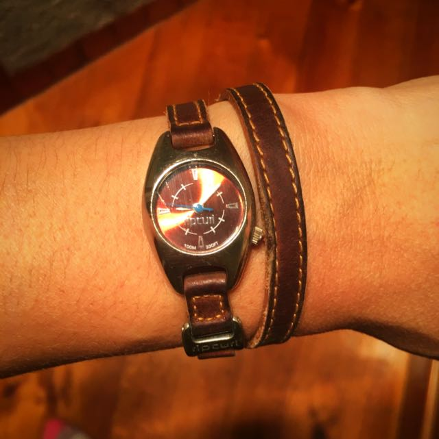 Rip curl Double Wrap Around Leather Watch