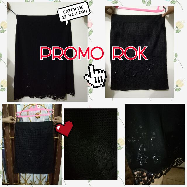 Rok Hitam Black Skirt