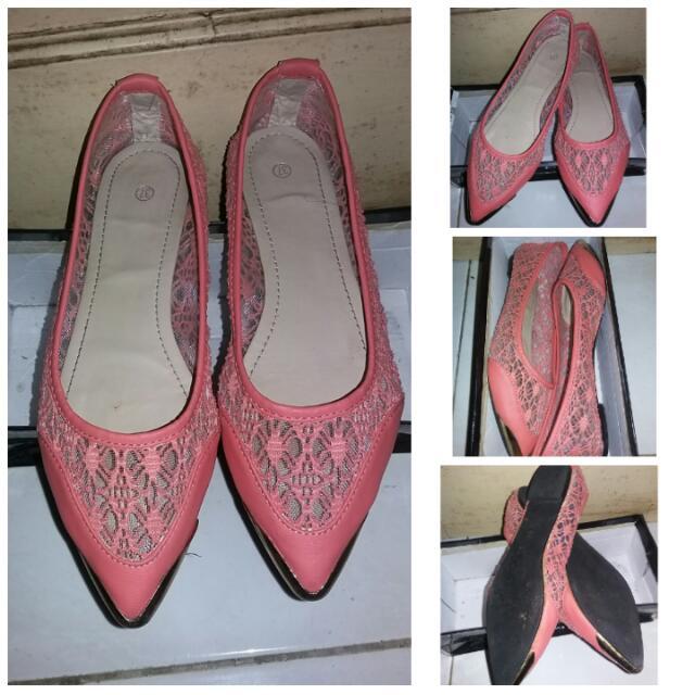 Sepatu Lace Import Orange 37