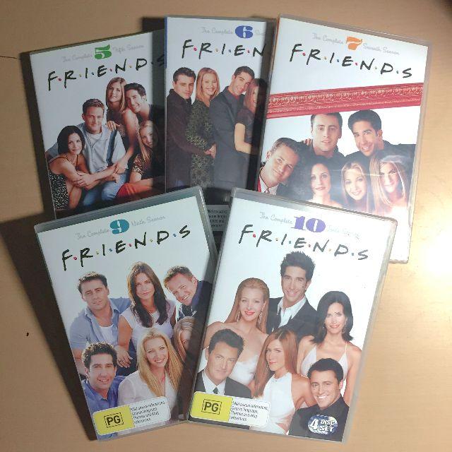 Set of 5- Friends (seasons 5,6,7,9,10) DVD