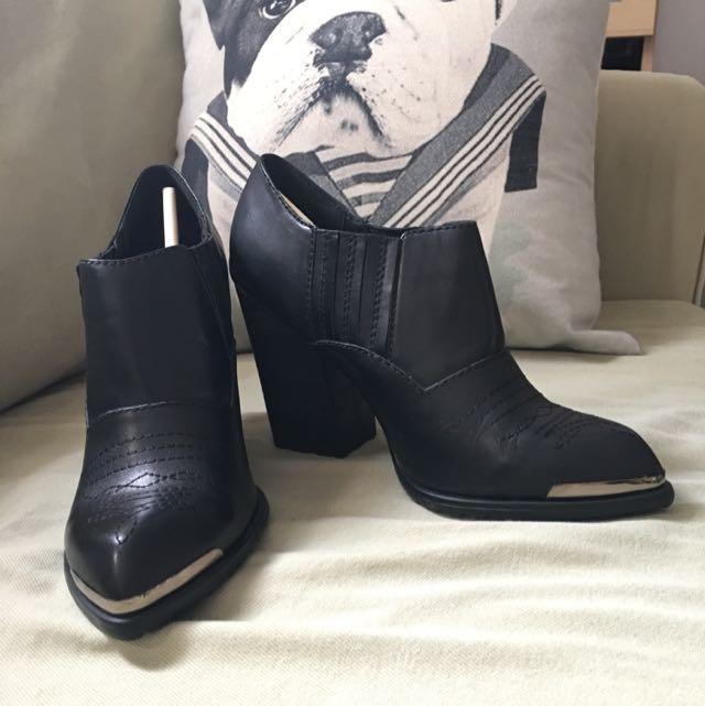 SOPHIE SAM短筒粗根靴