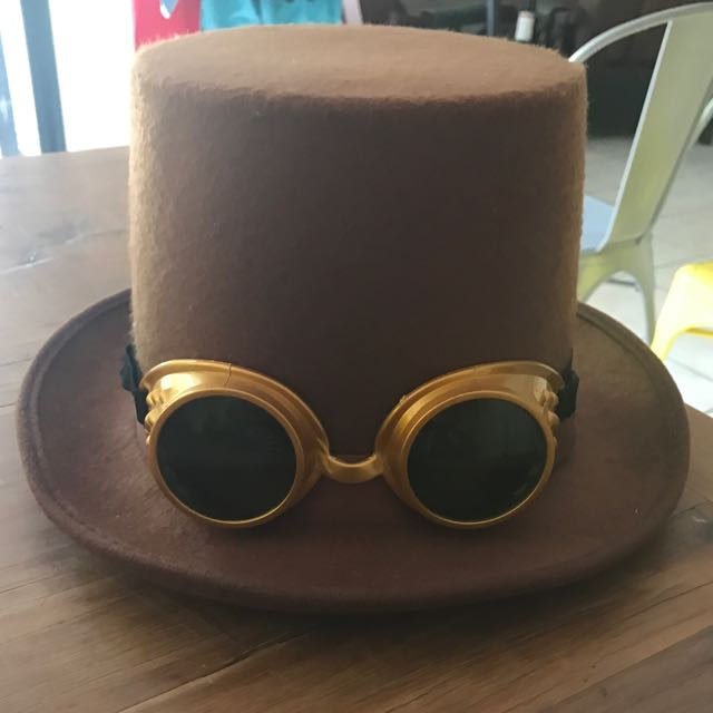 Steampunk Inspired Top Hat with Goggles