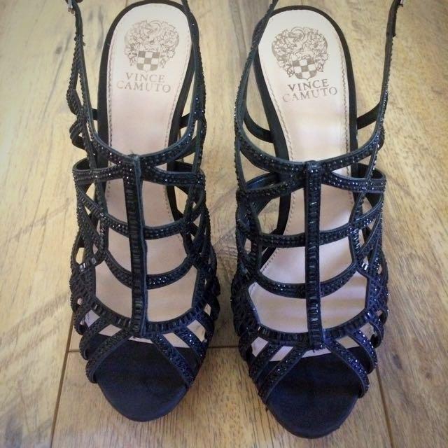 Strappy Black Stilettos Size 10