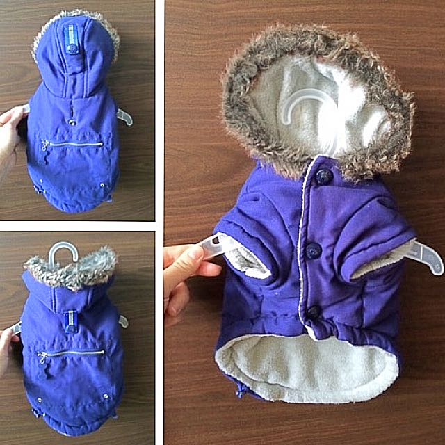 Blue Parka Dog Jacket XS
