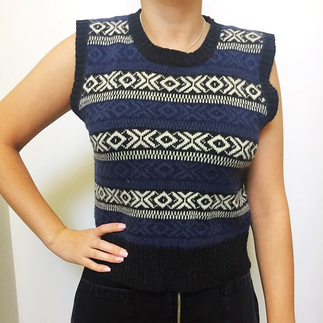 ⚡vintage 90's Cropped Knitted Top ⚡