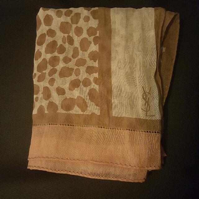 Yves Saint Laurent 100% Silk Scarf