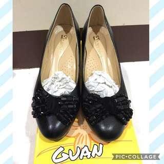 🚚 ✨全新 台灣手工真皮高跟鞋 全黑 黑色高跟鞋 上班族