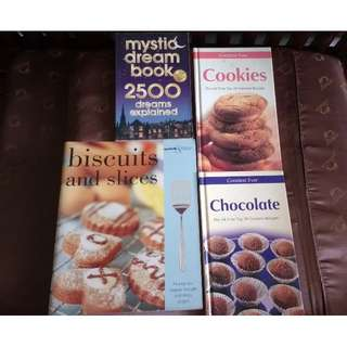 Cookies, chocolates, biscuits cookbooks - Not brand new but in decent condition