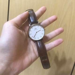 DW 36mm女錶(黑棕色)