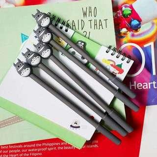 Totoro, stitch, panda gel pen (5pcs per set)