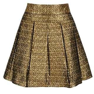 Banana Republic Gold Pleated Skirt