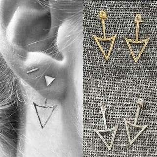🎈Silver Triangle Studs