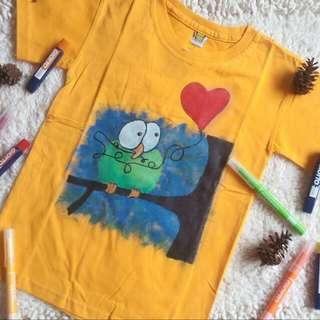 Green Bird T Shirt Handmade