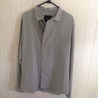 ASOS Grey Double Button Down - Large