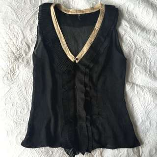 Sleeveless Top With Frill Detail 12
