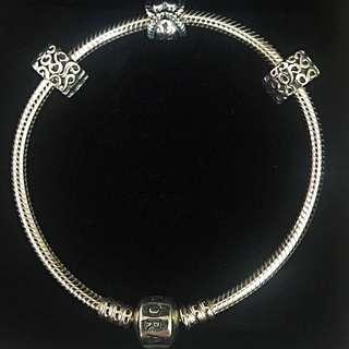 Genuine Pandora Charm Bracelet