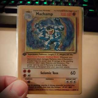1st edition Holo Machamp 8/102 Mint Condition