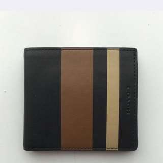 Brand New, Hard To Find Coach Bleecker Leather Wallet (Navy/Fawn). Only $140