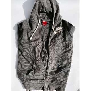 NIKE grey zip hoodie size M
