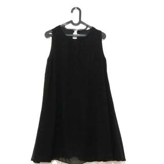 [NETT] Chiffon Black Dress