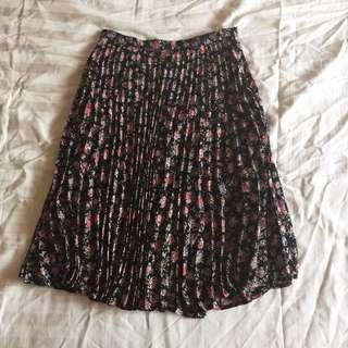 Forever21 Floral Knee-length Skirt