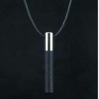 Lockstone One Steel Pendant & Black Stone Lockstone One Steel Pendant & Black