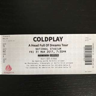 Coldplay ticket (1)