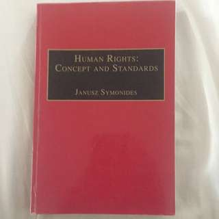 Human Rights: Concepts And Standards - Janusz Symonides