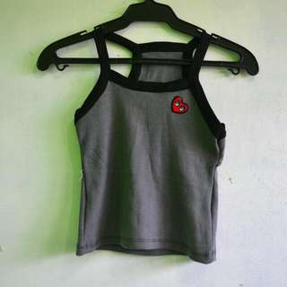 Patched Halter Top
