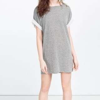 Zara Grey Casual Dress