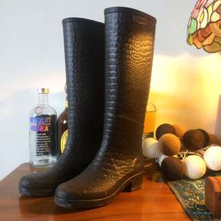 法國老牌Aigle鱷魚壓紋雨靴長靴