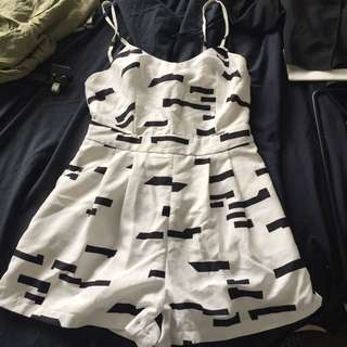 Black And White Playsuit Size 6