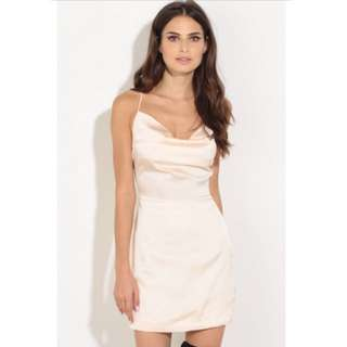 SILK BACKLESS DRESS