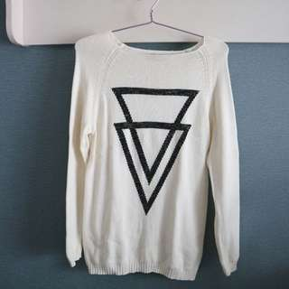 TOPSHOP Triangle Sweater