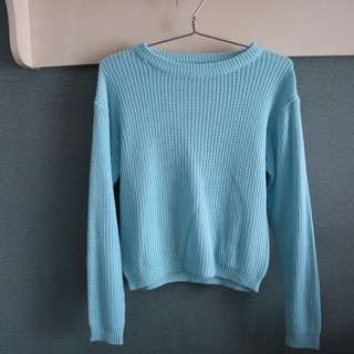 Knit Sweater - Blue