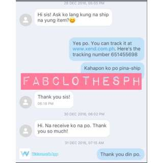 Fabclothesph Customer Feedback