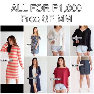 All 7 for P1,000 + Free SF MM