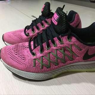 Nike 球鞋 慢跑鞋 運動鞋 走路鞋 粉紅色鞋 鞋子 桃紅色鞋 nike nike鞋 UA 38號