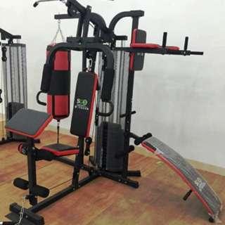 Home Gym 3 Sisi Sandsak Alat Olahraga Fitness Multistation Pembentuk Tubuh Atletis