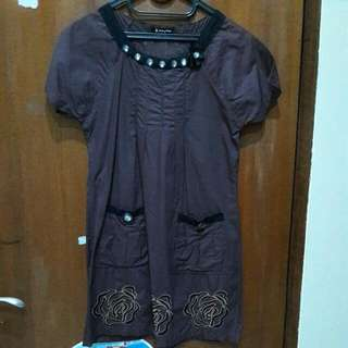 Dark Brown Mini Dress