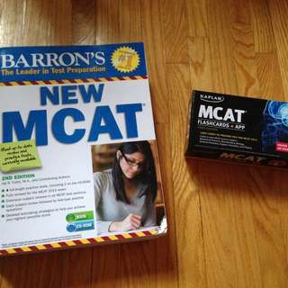 MCAT Test Book And Flash Cards