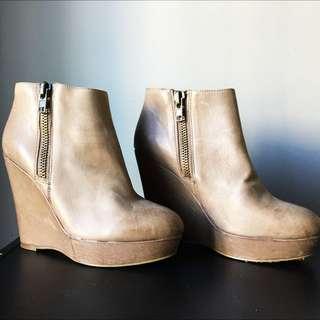 Tony Bianco Heeled Ankle Boots - Size 8
