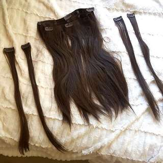 "18"" Heat Resistant Clip In Hair Extensions"
