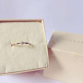 日本品牌 Nojess 菱形花朵鑽石戒指 agete Vendome Aoyama VA ete 4度C