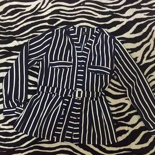 Dark Blue Stripes Blouse