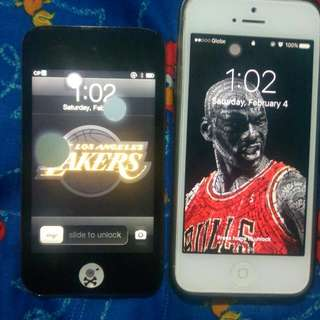 IPhone 5 16GB & Ipod Touch 4th Gen 32GB (Selling As Pair) Selling For 4K as Pair - RUSH!!!!