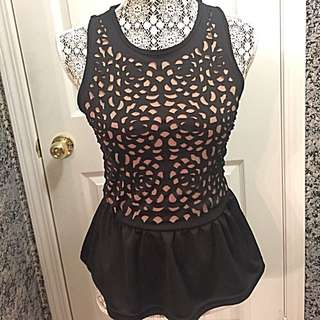 Sleeveless Peplum Top Size Small