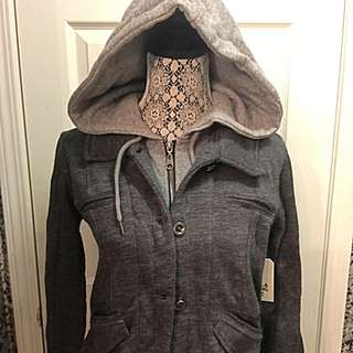 Billabong Hooded Sweater Size Medium