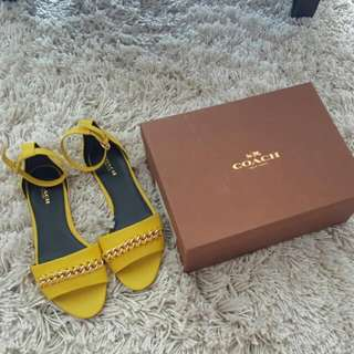 BNIB Authentic COACH Sandals With Ankle Cuffs. 100% Calf Leather.