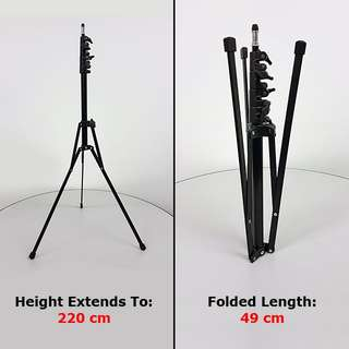 Light Stand, Compact & Portable (similar design to Manfrotto 5001B) [BRAND NEW IN BOX]